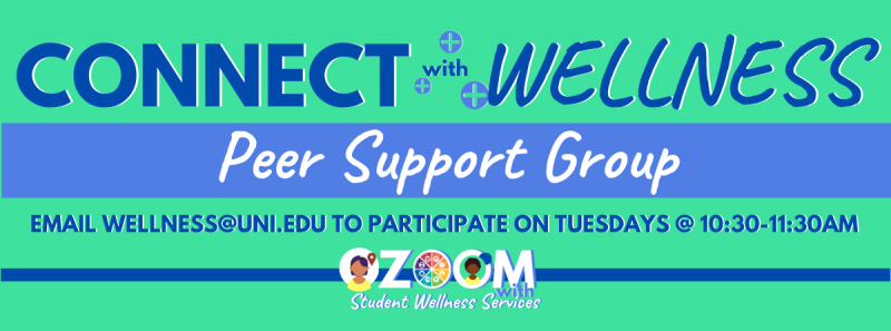 Connect with Wellness - Peer Support Group over Zoom