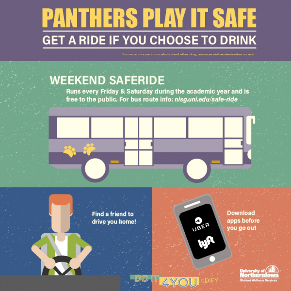 Panthers Play it Safe Get a Ride if You Choose to Drink