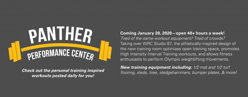Panther Performance Center Web Announcement