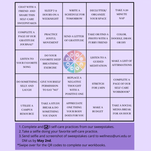 Self-Care Sweepstakes Card