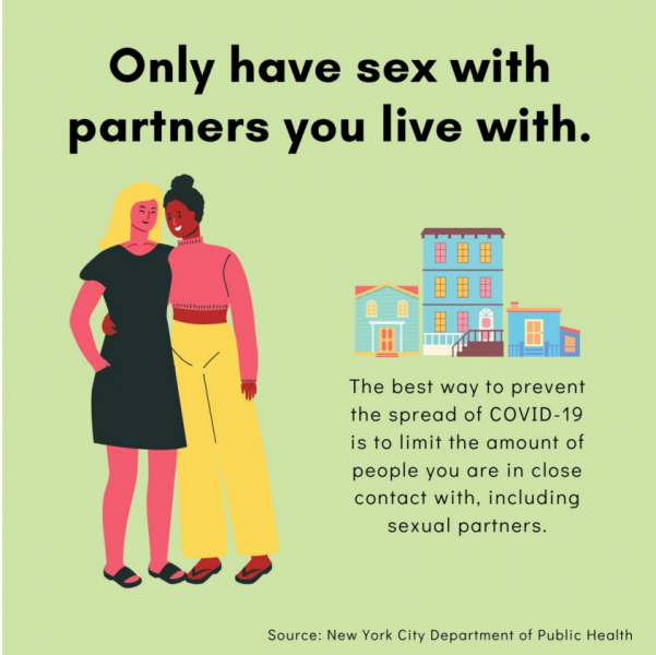 Only have sex  with  partners you live with.