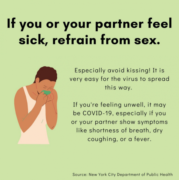 If you or your partner feel sick, refrain from sex.