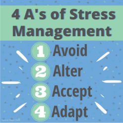 4 A's of stress managment