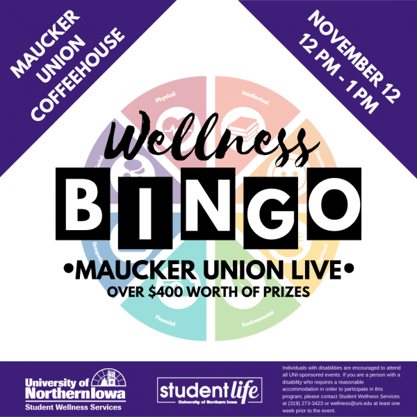Wellness Bingo - Maucker Union Coffeehouse - November 12th, noon-1pm - Over $400 worth of prizes